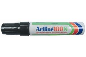 "Artline Artline Permanente Marker ""100N"" schuine punt, lijndikte 7.5-12mm - zwart"