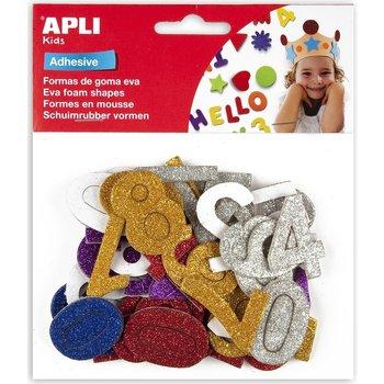 "Apli APLI Kids Schuimrubber (glitter) zelfklevende vormen ""Cijfers"" - 50stuks"