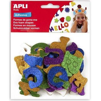 "Apli APLI Kids Schuimrubber (glitter) zelfklevende vormen ""Letters"" - 52stuks"