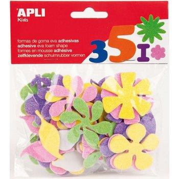 "Apli APLI CREA Schuimrubber (glitter) zelfklevende vormen ""Bloemen"" - 25stuks"