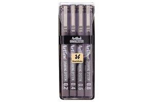 Artline Artline Technische tekenpen (etui) lijndikte 0,2/0,4/0,6/0,8mm - zwart
