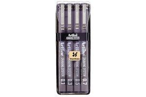 Artline Artline Technische tekenpen (etui) lijndikte 0,1/0,3/0,5/0,7mm - zwart