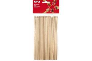 Apli APLI Natuur houten prikkers 200x3mm - 50stuks