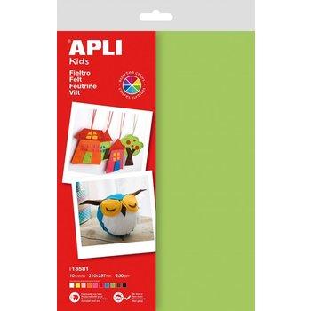Apli APLI Kids Vilt A4/10vellen 210x297mm - assorti