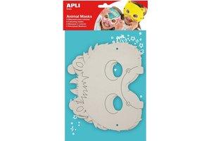 """Apli APLI Crea Maskers in karton """"Dieren"""" 6stuks"""