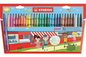 Stabilo Stabilo Power viltstiften - Etui (karton) 30stuks
