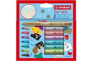 Stabilo Stabilo Trio Deco Metallic viltstiften - Etui (karton) 8stuks