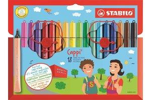 Stabilo Stabilo Cappi viltstiften - Etui (karton) 18stuks