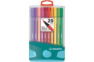 Stabilo Stabilo Pen 68 ColorParade - Box 20stuks (blauw/turquoise)