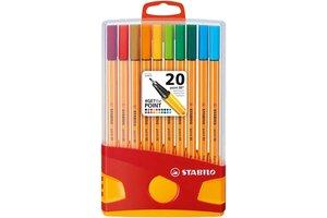 Stabilo Stabilo Point 88 ColorParade - Box 20stuks (rood/geel)