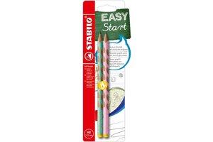 Stabilo Stabilo EASYgraph Pastel HB groen/roze - links/2stuks