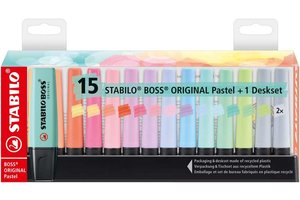 Stabilo Stabilo BOSS Original - Deskset 15stuks (pastel)