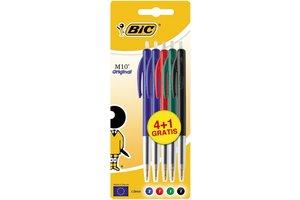 Bic BIC Balpen M10 Medium - assorti (4+1 gratis)
