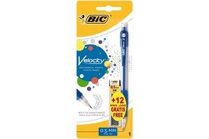 "Bic BIC Vulpotlood ""Velocity"" met gomtop 0,5mm HB/2 + 12 vullingen"