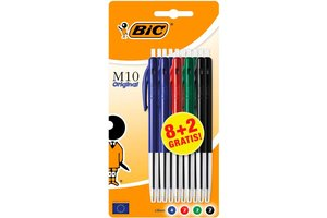 Bic BIC Balpen M10 Original - assorti - 8+2gratis