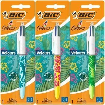 Bic BIC 4-kleurenbalpen VELOURS - 1 exemplaar