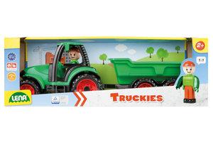 Lena Truckies Tractor met aanhangwagen + figuurtje - 36cm