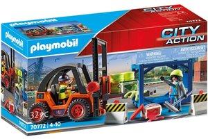 Playmobil PM City Action Cargo - Vorkheftruck met lading 70772