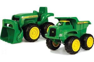 Tomy John Deere - Grote kiepwagen en tractor