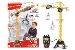 Dickie Toys R/C Mega kraan (120cm) met licht/geluid + accessoires