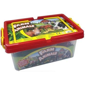 Boerderijdieren met plastic speelmat - 35 stuks