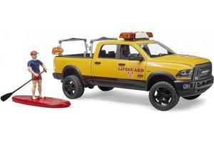 Bruder RAM 2500 Reddingswagen met strandwachter en accessoires