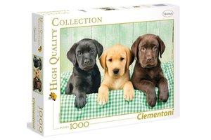 Clementoni Puzzel  High Quality Collection - Three Labradors 1000 stuks