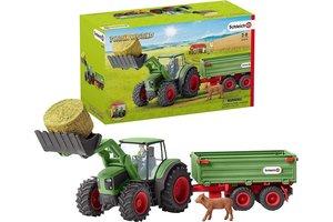 Schleich Schleich Farm World - Tractor met aanhangwagen