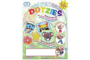 Diamond Dotz Diamond Dotz - Megapack Dotzies Art Kit  (6-delig) - groen