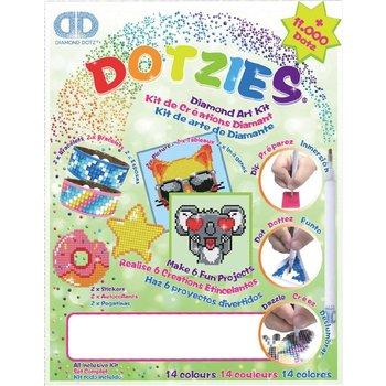 Diamond Dotz Megapack Dotzies 6-delig - groen