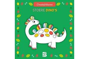 Ballon Creatief kleuren - Stoere dino's (vierkant formaat)