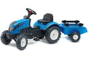 """Falk Tractor """"Landini"""" + aanhangwagen - blauw"""