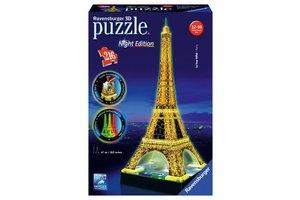 Ravensburger 3D Puzzel (216stuks) - Eiffeltoren (Parijs) - Night Edition