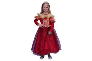 Kostuum Prinses rood/goud