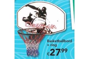 basketball bord + ring + net