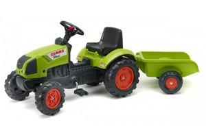 Falk Traktor Claas Arion 410 met aanhanger