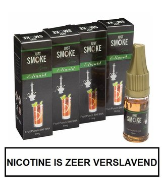 Just Smoke Green Fruit Punch Shisha E-liquid