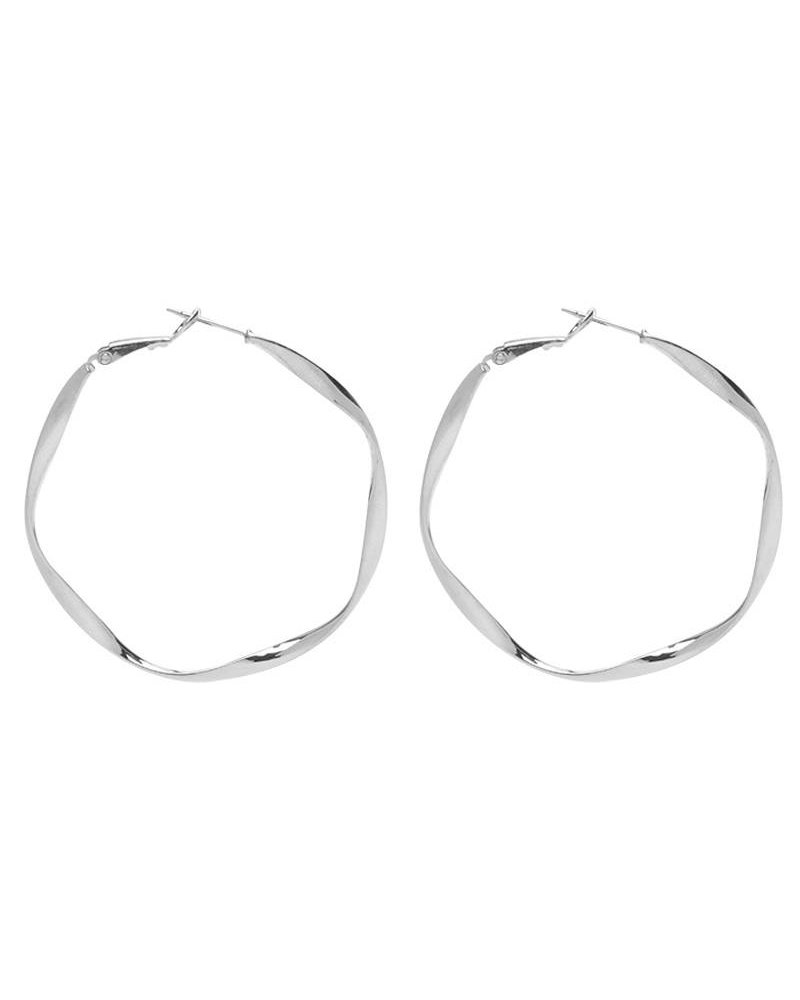 CRAFTED HOOPS - SILVER
