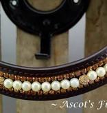 Ascot's Finest Havanna bruin rundlederen hoofdstel lin de maten XFull t/m Shetlander