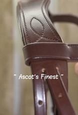 Ascot's Finest Bruin rundlederen Lage Neusriem hoofdstel - Shet, Pony, Cob, Full en XFull