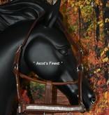 Ascot's Finest Bruin lederen halster met fijne strass steentjes - Pony, Cob en Full