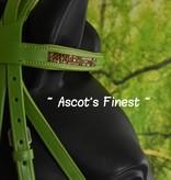 Ascot's Finest Groen rundlederen hoofdstel - Pony, Cob en Full