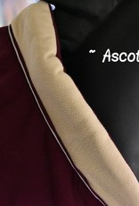 Ascot's Finest Bordeaux rood en crème deken - 195 cm
