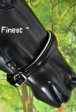 Ascot's Finest Zwart rundleder Lage Neusriem - Shet, Pony, Cob, Full  en Full