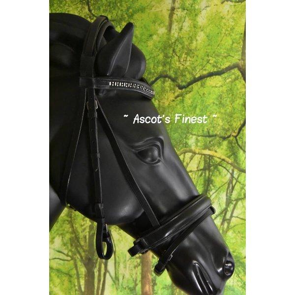 Zwart lederen Trekpaard hoofdstel