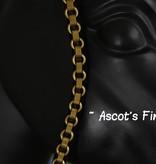 Ascot's Finest Zwart met gouden gesp - 39 cm