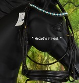 Ascot's Finest Donkerbruin rundleer rondgenaaid met grote stenen - Full