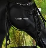 Ascot's Finest Zwart rundleder met lak en strass - Full