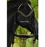 Ascot's Finest Zwart lederen hoofdstel met lage neusriem - Pony en Cob