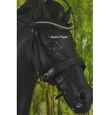 Ascot's Finest Zwart rundleer, brede neusriem - Cob